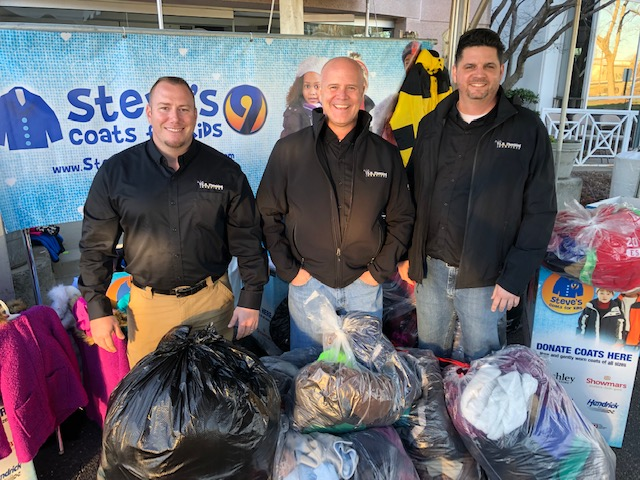 Charlotte plumbing company volunteering at WSOC TV Steve's Coats Coat Drive