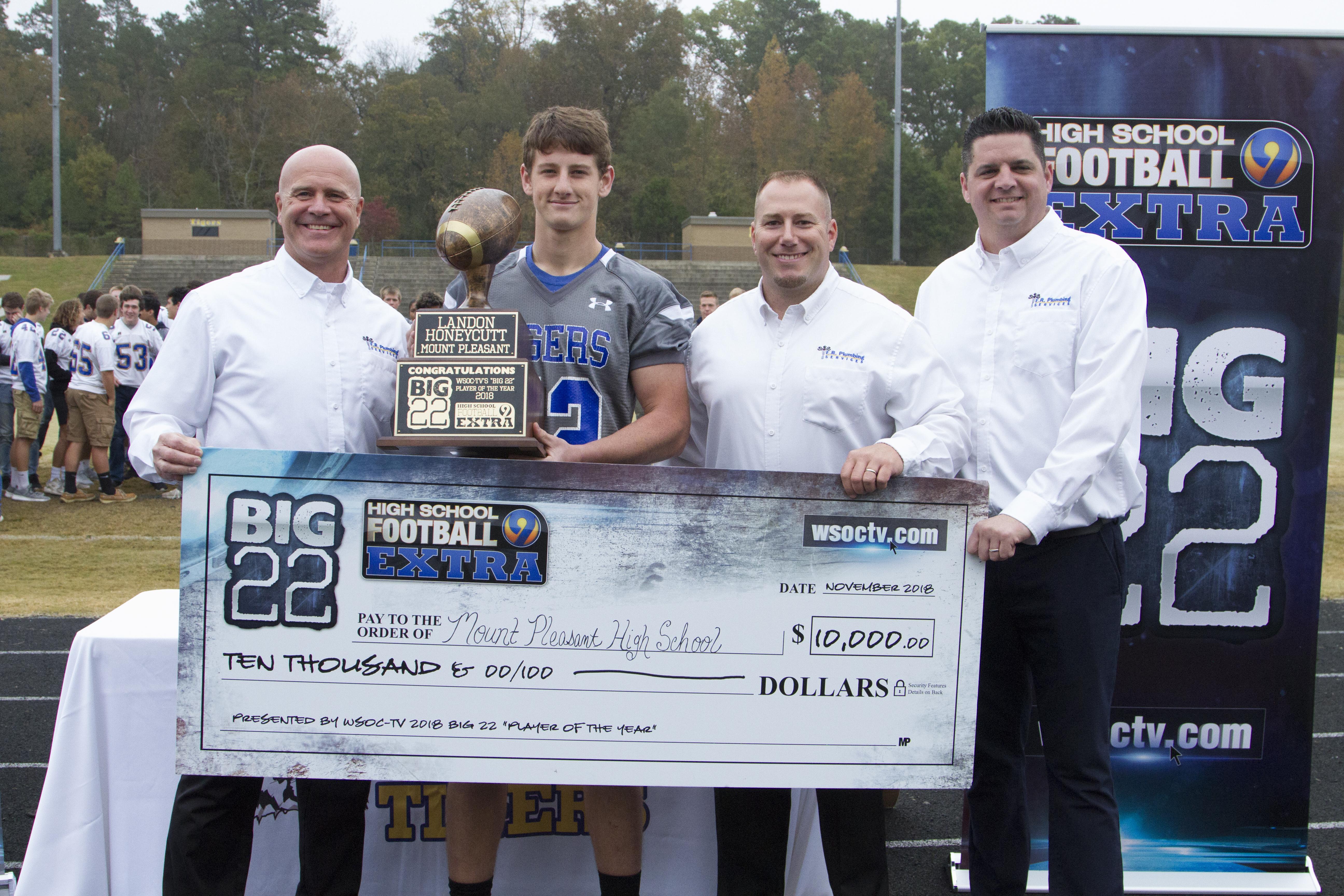 Charlotte plumbers Big 22 Award
